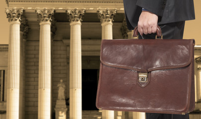 A lawyer with a briefcase