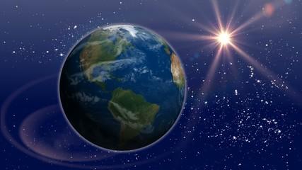 звезда над планетой