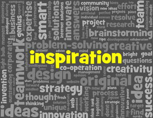 INSPIRATION Tag Cloud (imagination ideas creativity innovation)