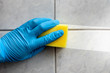 Sponge cleaning bathroom - 56503456