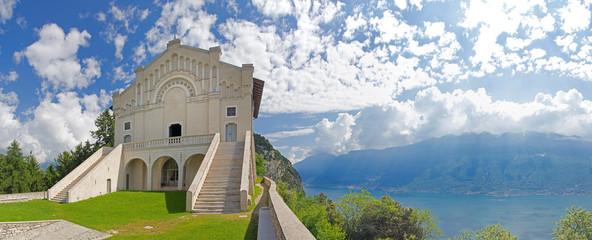 Madonna di Montecastello, Tignale, Gardasee, Aussicht, Mann