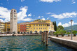 Riva del Garda, Promenade, Gardasee, Glockenturm, Hafen, Italien