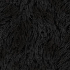 Lovely Black Fur Background Texture