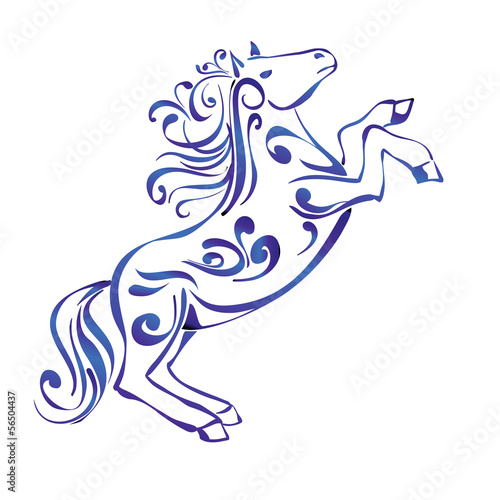 Horse  Decorative Ornament sketch