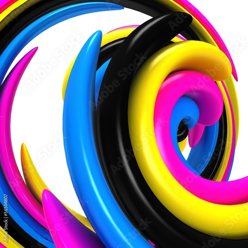 3d abstract cmyk background © moneymaker11