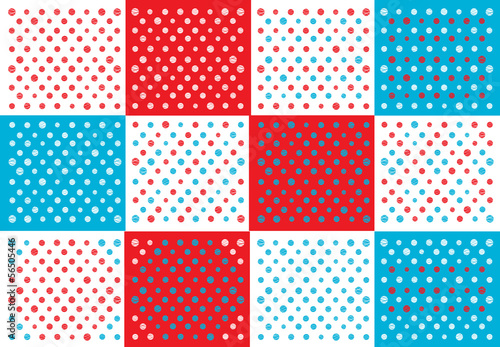 polka dots patchwork background