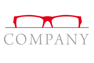 Red Glasses Optician Company Logo