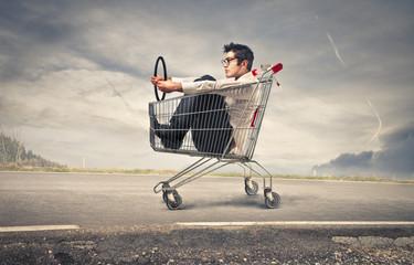 ride a cart
