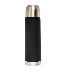 Thermos flask over white background