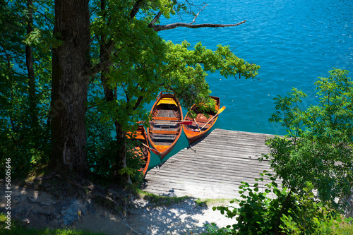 Boats, Lake Bled, Slovenia