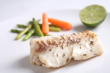 grilled cod fish steak