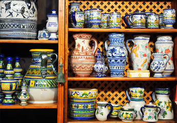 Ceramic crafts for sale in the shop