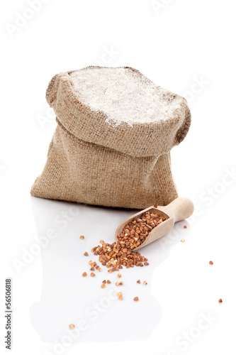 Flour and buckwheat.