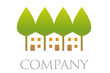 Houses and Trees Real Estate Company Logo
