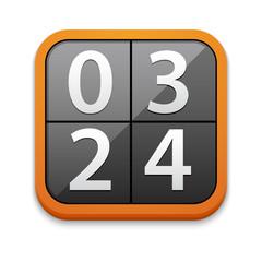 Vector counter or clock icon