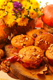 Pumpkin muffins with nuts
