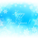 White snowflakes new year vector background