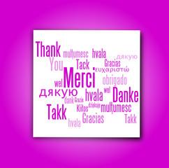 Carte de Remerciements : Mauve