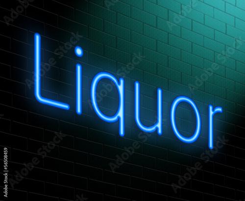 Liquor concept.
