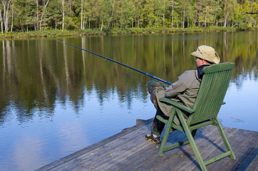 Luxury lake fishing in september