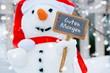 Schneemann wünscht guten Morgen