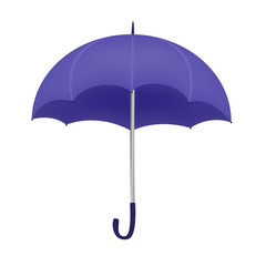 Violet umbrella isolated on white background