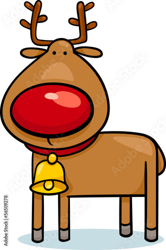 cute christmas reindeer cartoon