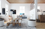 scandinavian style living room - Wohnzimmer im schweden Stil - 56509441