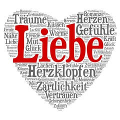 Wordcloud - Liebe in Herzform