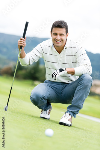 Male golf player