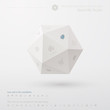 Geometric minimal web template