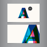 Business card template, letter A
