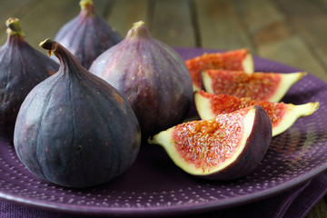 Fresh ripe figs on a plate