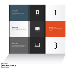 Modern design template for business concepts  - for infographics