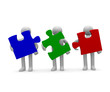 Teamwork concept, 3d image