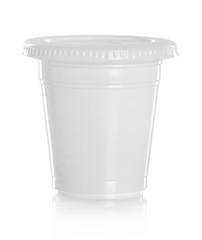 white plastic glass for liquid Product