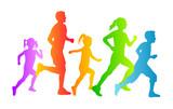 Familie beim Laufen - 1