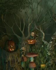 Spooky Goblin Halloween Forest