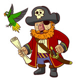 pirate captain and parrot