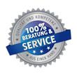 Service und Beratung, Button, Siegel, Aufkleber