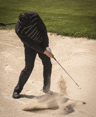 Golfer from the bunker