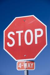4 way Stop Sign, USA