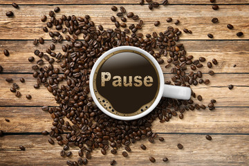 Kaffeetasse mit Pause