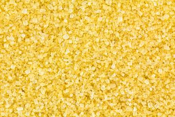 Macro of turbinado sugar granules