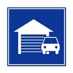 Señal simbolo garaje