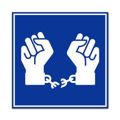 Cartel simbolo libertad