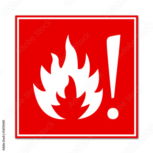 Señal simbolo superficie caliente