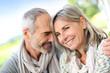 Portrait of loving senior couple