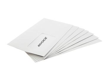 Batch of Envelopes isolated on White