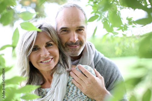 Senior couple in natural background